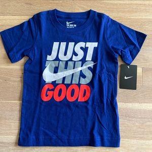 Boys Nike blue graphic T-shirt size 4 NWT